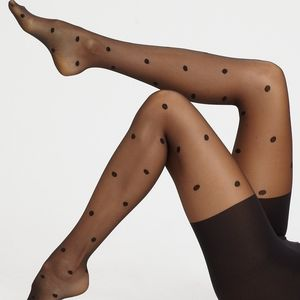 Spanx polka dot sheer tights